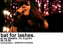 Bat for Lashes at El Rey Theatre