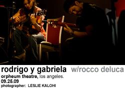 Rodrigo y Gabriela w/Rocco DeLuca at Orpheum Theatre