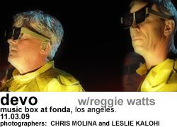 Devo w/Reggie Watts at The Music Box at Fonda Night 1