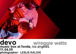 Devo with Reggie Watts at The Music Box at Fonda Night 2