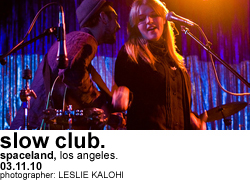Slow Club at Spaceland