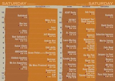 Set Times Saturday