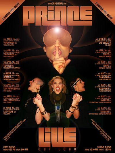 Prince 2013 Tour Poster