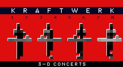 Kraftwerk Walt Disney Concert Hall 3D