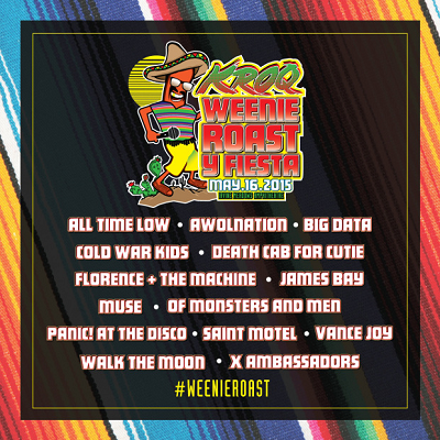 1067 KROQ FM Los Angeles Weenie Roast Verizon Wireless Amphitheater Muse Florence And The Machine 2015