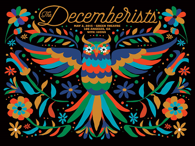 The Decemberists Poster The Greek Theatre 2015 Review Los Angeles