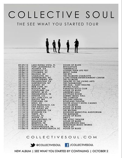 Collective Soul The See What You Started Tour 2015
