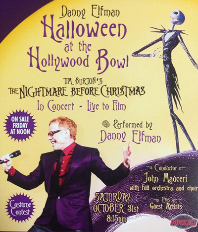 Halloween at the Hollywood Bowl 2015 Tim Burton's The Nightmare Before Christmas Orchestra Danny Elfman Los Angeles