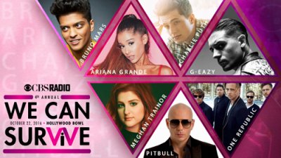 CBS-We-Can-Survive-2016-Los-Angeles-Hollywood-Bowl-G-Eazy-Ariana-Grande-Bruno-Mars-One-Republic-Pitbull-Charlie-Puth-Meghan-Trainor-Carson-Daly-Young-Survival-Coalition