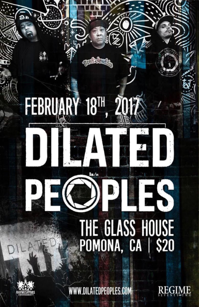 Dilated Peoples Glass House Pomona 2017 Los Angeles Event Poster