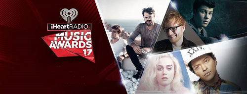 IHeartRadio Music Awards 2017 Los Angeles The Forum Inglewood The Chainsmokers Coldplay Chris Martin Katy Perry Bruno Mars Ed Sheeran