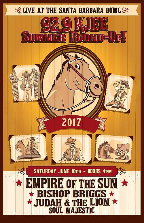 KJEE Summer Round-Up 2017 Santa Barbara Bowl Empire Of The Sun Bishop Briggs Judah And The Lion Soul Majestic 929