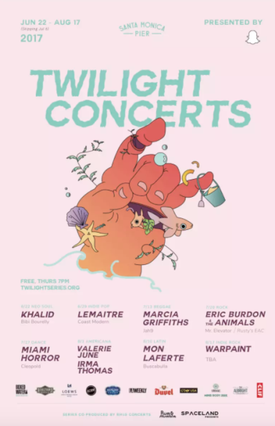 Twilight Concerts Santa Monica Pier 2017 Los Angeles