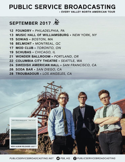 Public Service Broadcasting 2017 Fall Tour