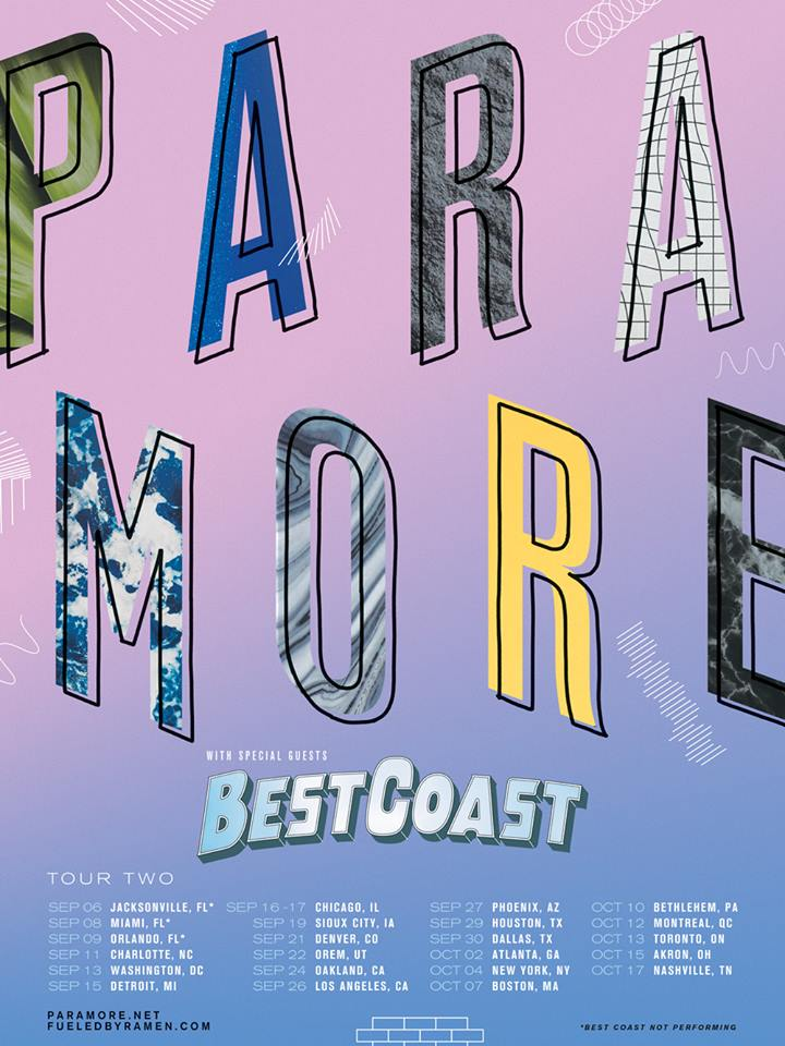 Paramore North American 2017 Tour