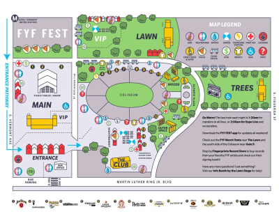 FYF Fest 2017 Site Map Los Angeles Music Festival Exposition Park Nine Inch Nails Missy Elliot Bjork Frank Ocean A Tribe Called Quest Erykah Badu Iggy Pop Solange