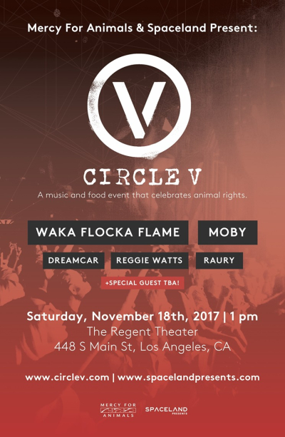 Circle V Music Festival 2017 Moby Waka Flocka Flame Dreamcar Reggie Watts Raury Regent Theater Los Angeles DTLA