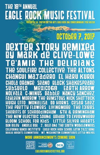 Eagle Rock Music Festival Event Poster 2017