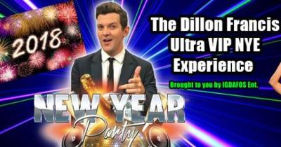 The Dillon Francis Ultra VIP New Year's Eve Experience Shrine Expo Hall Los Angeles Whethan Team EZY