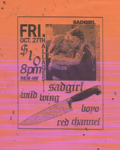 SadGirl Hi Hat Highland Park Los Angeles Show Poster Halloween 2017