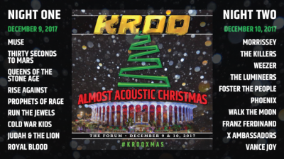 KROQ Almost Acoustic Christmas Forum Inglewood Los Angeles Muse Morrissey