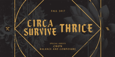 Circa Survive 2017 Los Angeles Shrine Expo Hall Thrice Chon Balance and Composure