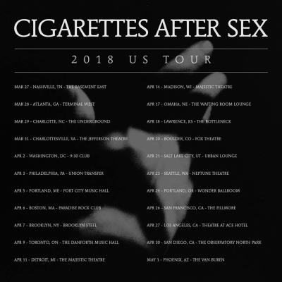 Cigarettes After Sex 2018 U.S. Tour