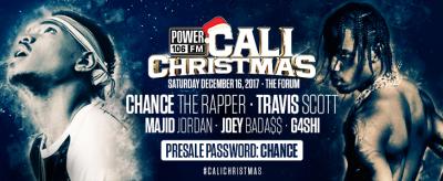 Power 106 2017 Cali Christmas Los Angeles Forum Inglewood Chance the Rapper Travis Scott Majid Jordan
