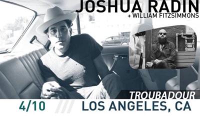 Joshua Radin Troubadour Los Angeles 2018 West Hollywood William Fitzsimmons