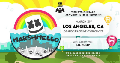 Marshmello 2018 Los Angeles Convention Center Lil Pump