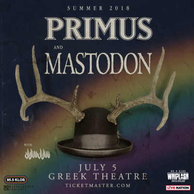Primus Mastodon Greek Theatre Los Angeles 2018 All Them Witches Jjuujjuu