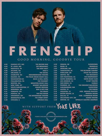 Frenship Good Morning Goodbye Tour 2018