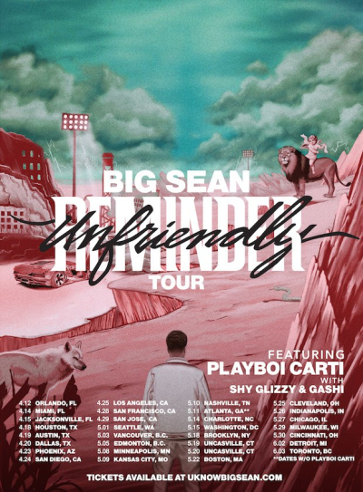 Big Sean Unfriendly Reminder Tour 2018