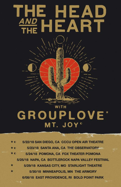 The Head and the Heart Grouplove 2018 Tour