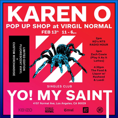 Karen O 2018 Los Angeles Virgil Normal Pop Up Shop Yo My Saint Yeah Yeah Yeahs Hollywood Bowl