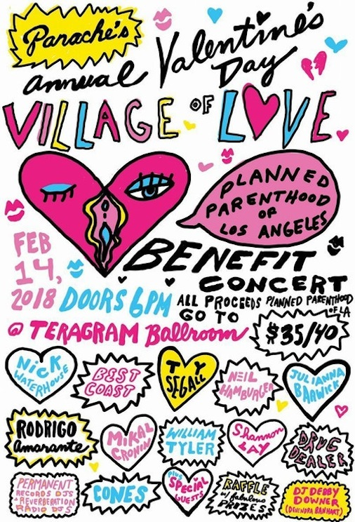 Panache Valentines Day Village Of Love 2018 Los Angeles Teragram Ballroom Downtown Best Coast Ty Segall Julianna Barwick Rodrigo Amarante