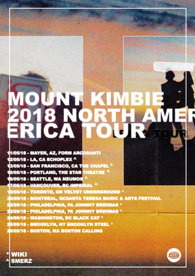 Mount Kimbie North American Tour 2018