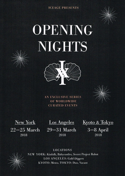 Iceage Opening Nights Event Poster