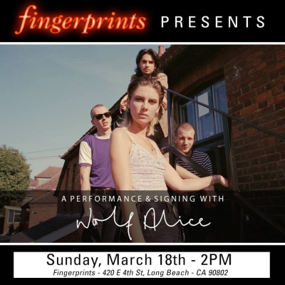 Wolf Alice Fingerprints Music Long Beach In-Store 2018 Mayan Theater Los Angeles DTLA 2018 Visions of a Life