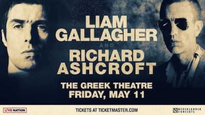 Liam Gallagher 2018 Richard Ashcroft Los Angeles Greek Theatre Los Feliz As You Were Oasis These People The Verve