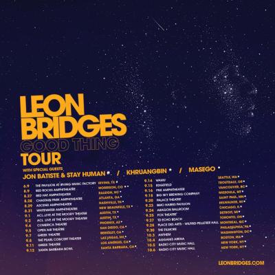 Leon Bridges Good Thing Tour 2018