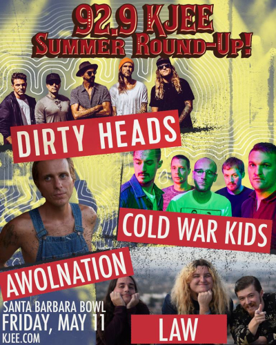 KJEE Summer Round-Up 2018 Santa Barbara Bowl AWOLNATION Cold War Kids Dirty Heads Law Radio Music Festival