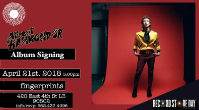 Albert Hammond Jr. Fingerprints Music Long Beach Francis Trouble Signing Meet & Greet Record Store Day April 21 Etchings From Francis Trouble
