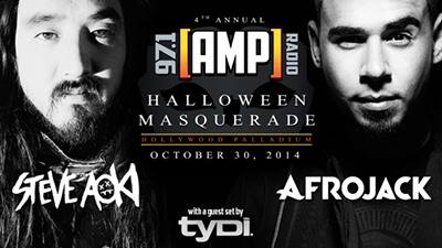 97.1 Halloween Masquerade Afrojack Hollywood Palladium