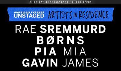 American Express UNSTAGED Artists in Residence Rae Sremmurd Borns Pia Mia Gavin James El Rey Theatre 2015