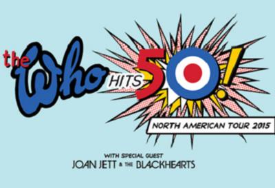 The Who Joan Jett Staples Center Honda Center Los Angeles Anaheim 2015 Hits 50 Tour