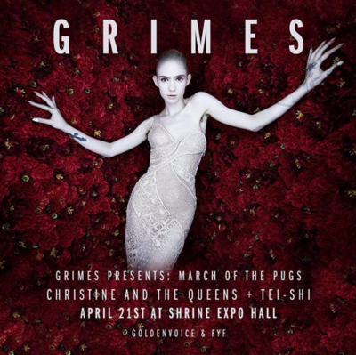 Grimes Art Angels March of the Pugs Shrine Expo Hall 2016 Los Angeles Coachella Localchella Christine and the Queens Tei Shi Lightning in a Bottle