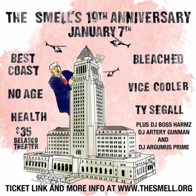 The-Smell-2017-19th-Anniversary-Best-Coast-Bleached-No-Age-Vice-Cooler-Ty-Segall-Health-Donald-Trump-Fundraiser-Benefit