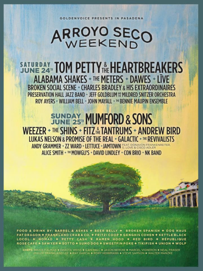 Arroyo Seco Weekend 2017 Los Angeles Rose Bowl Pasadena Tom Petty And The Heartbreakers Mumford And Sons Alabama Shakes Weezer The Shins Goldenvoice Music Festival