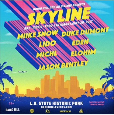 Skyline 2017 Los Angeles State Historic Park Music Festival Miike Snow Duke Dumont Lido Eden Michl Elohim Jason Bentley